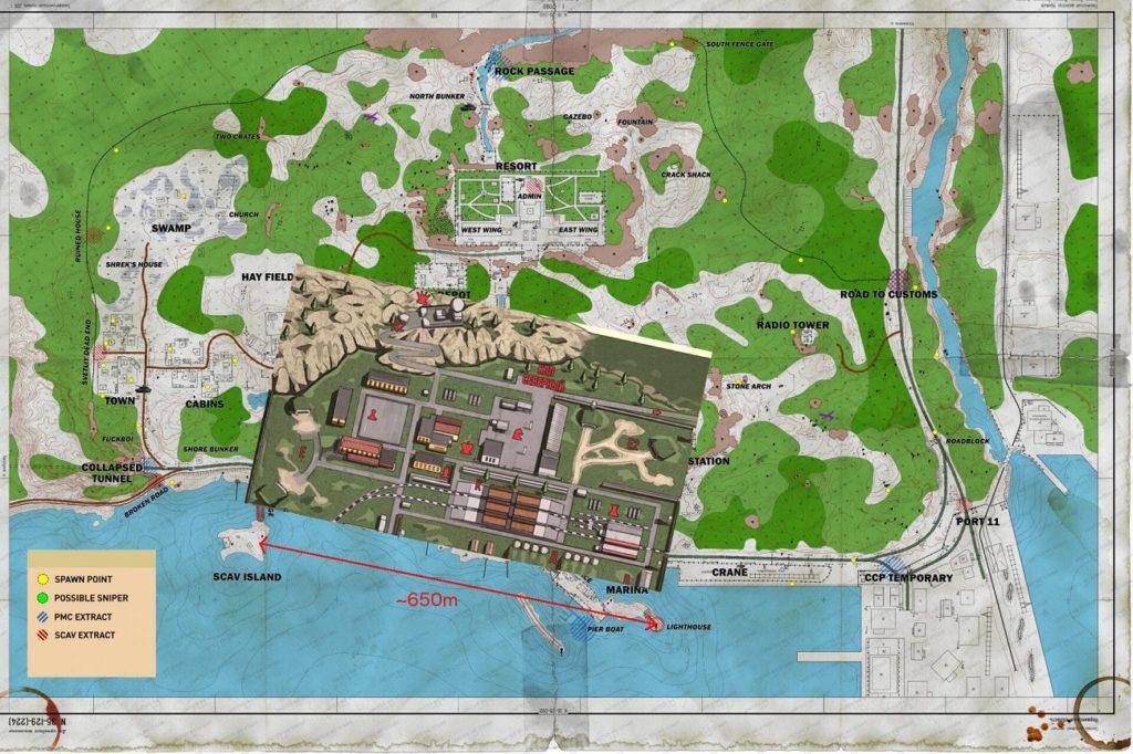 tarkov reserve map 2020
