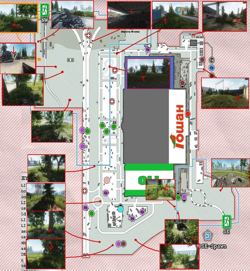Escape from tarkov Interchange map guide