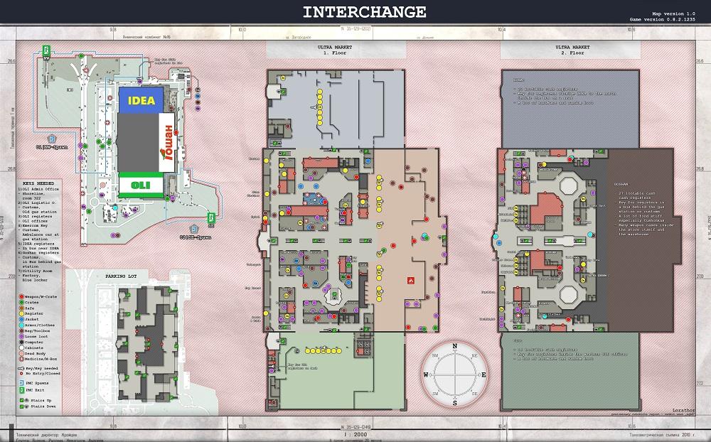 interchange map loot guide escape from tarkov
