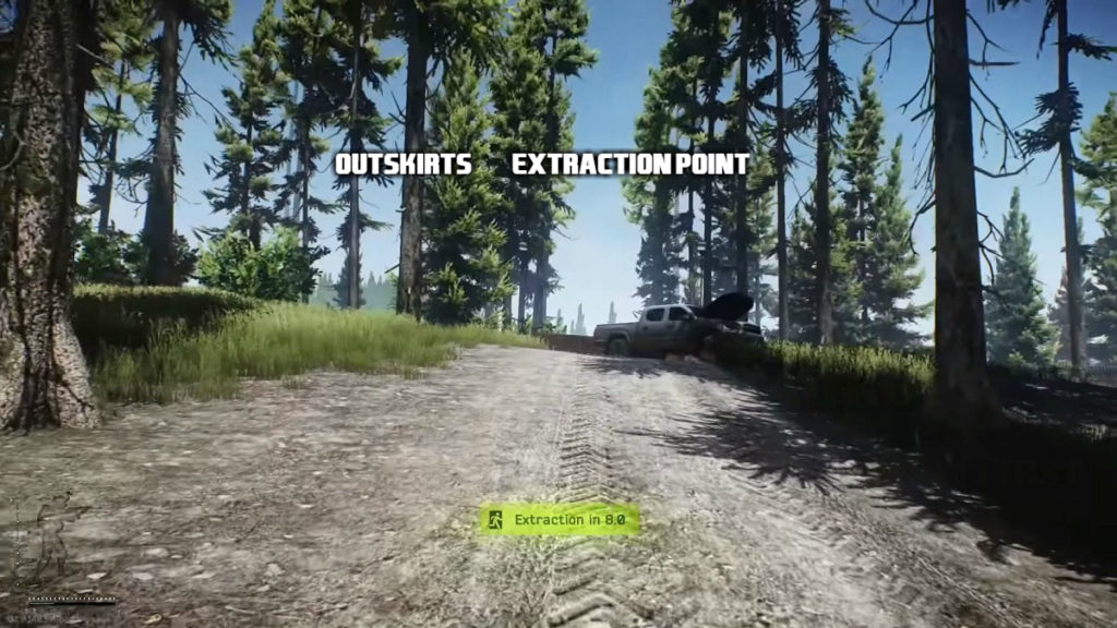 Outskirts extraction point in Escape from tarkov woods map