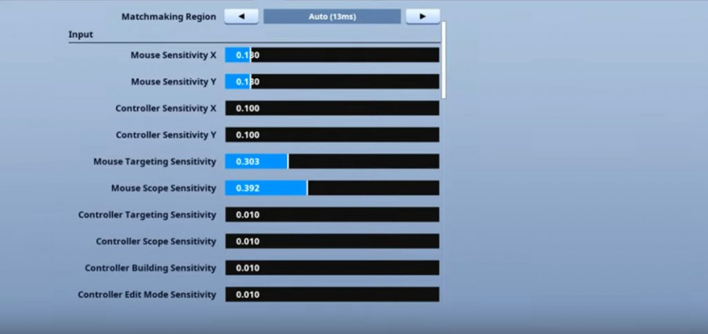 Bugha Fortnite Mouse Settings