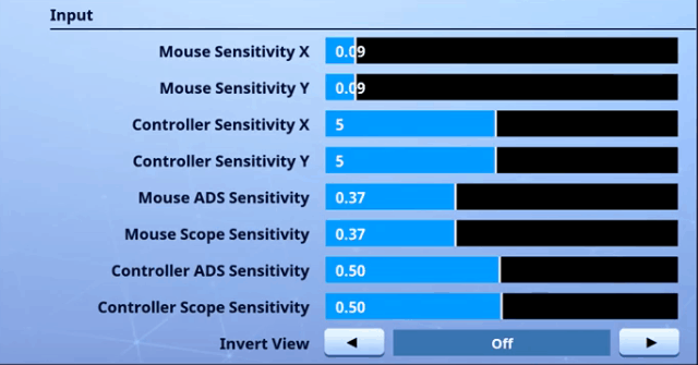 CouRage Fortnite Mouse Settings