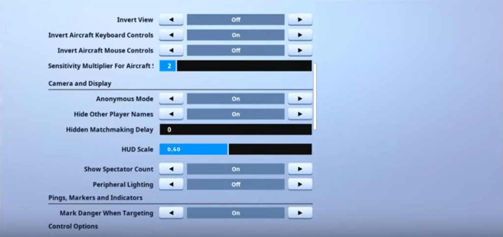 ErycTriceps Game Settings