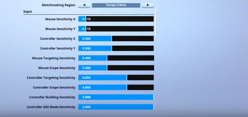 ErycTriceps Fortnite Mouse Settings