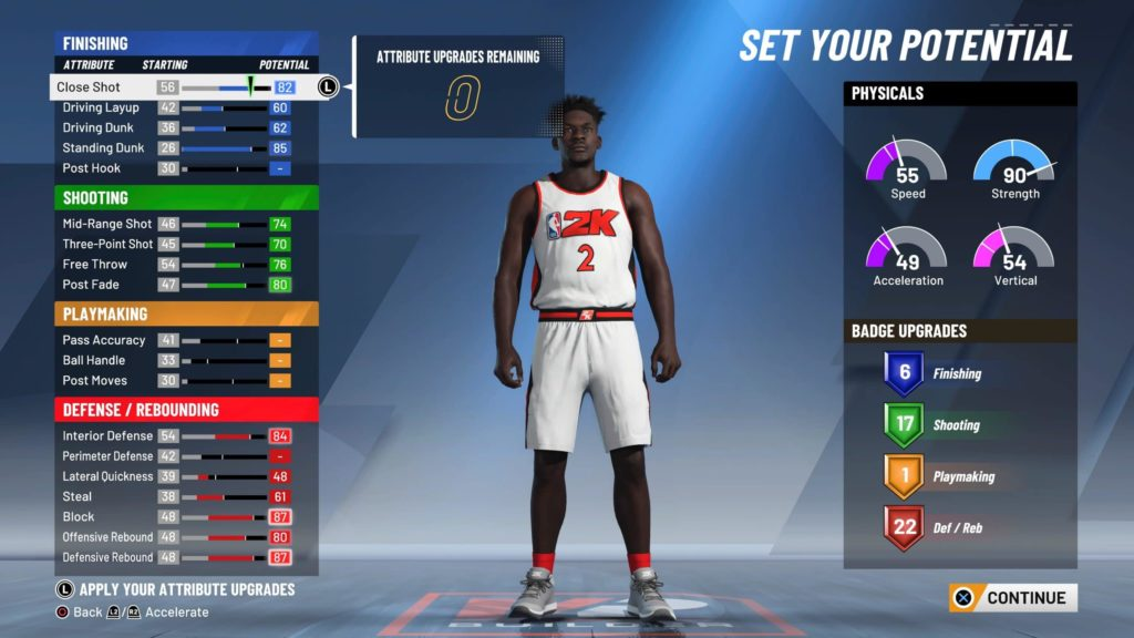 NBA 2k20 center builds
