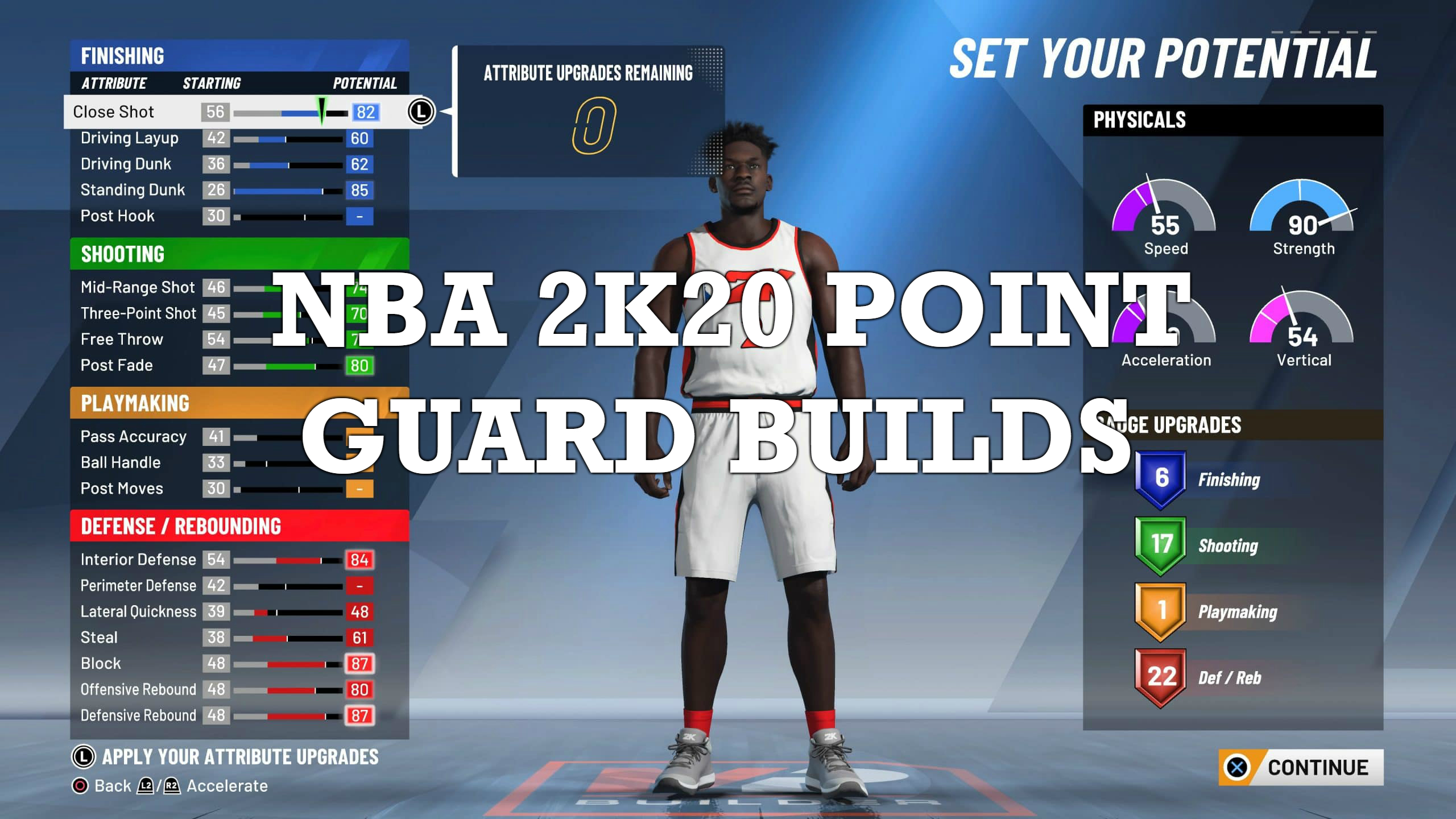 NBA-2K20 point guard build