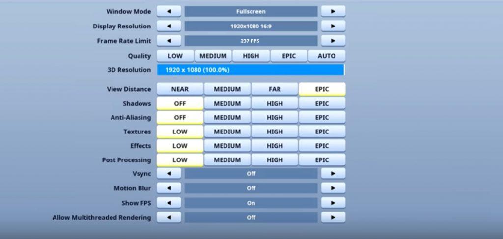 SypherPK Fortnite Video settings