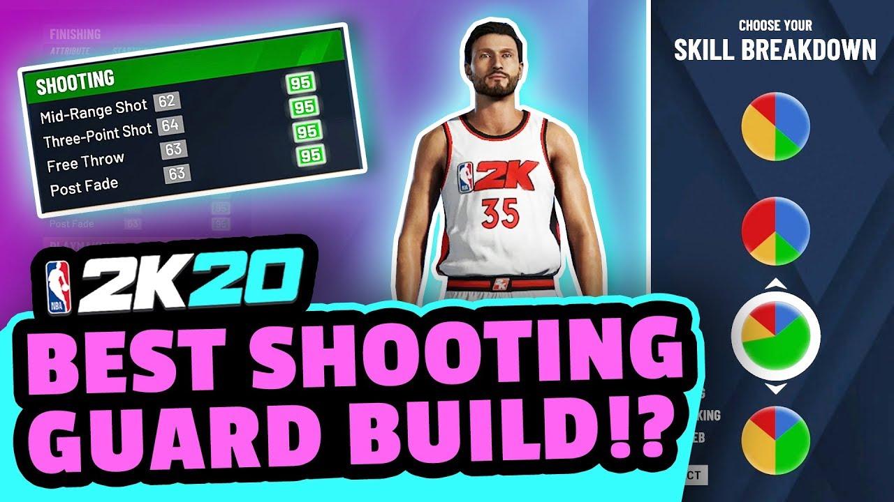 best NBA 2k20 shooting guard build