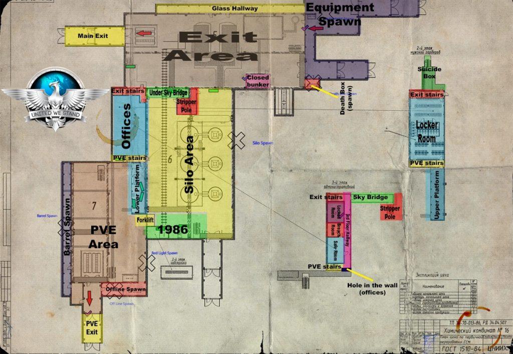 factory map escape from tarkov guide