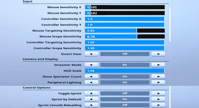 Hamlinz Fortnite Mouse Settings