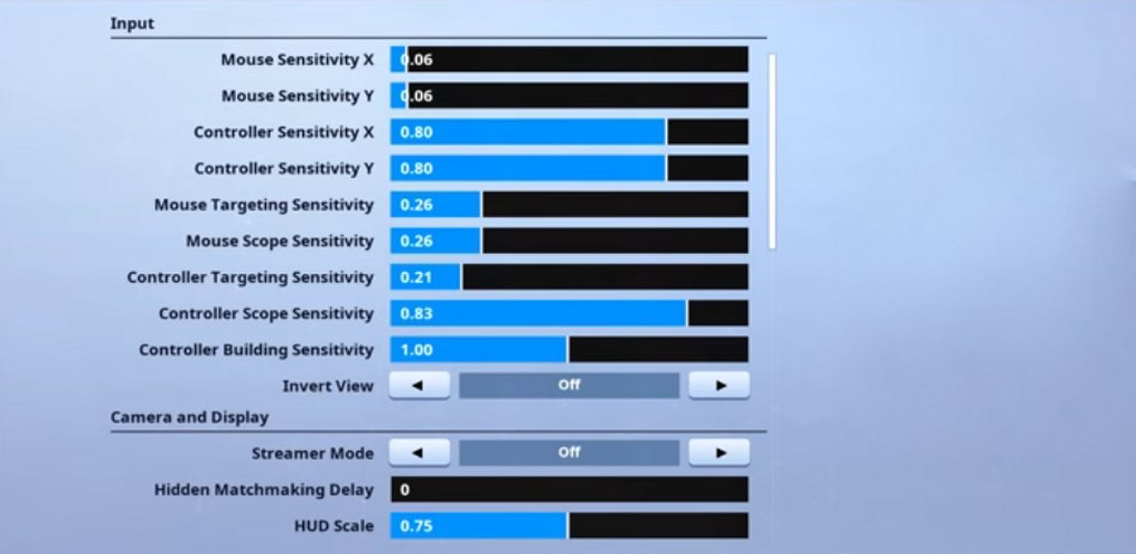 Sceptic Fortnite Mouse Settings