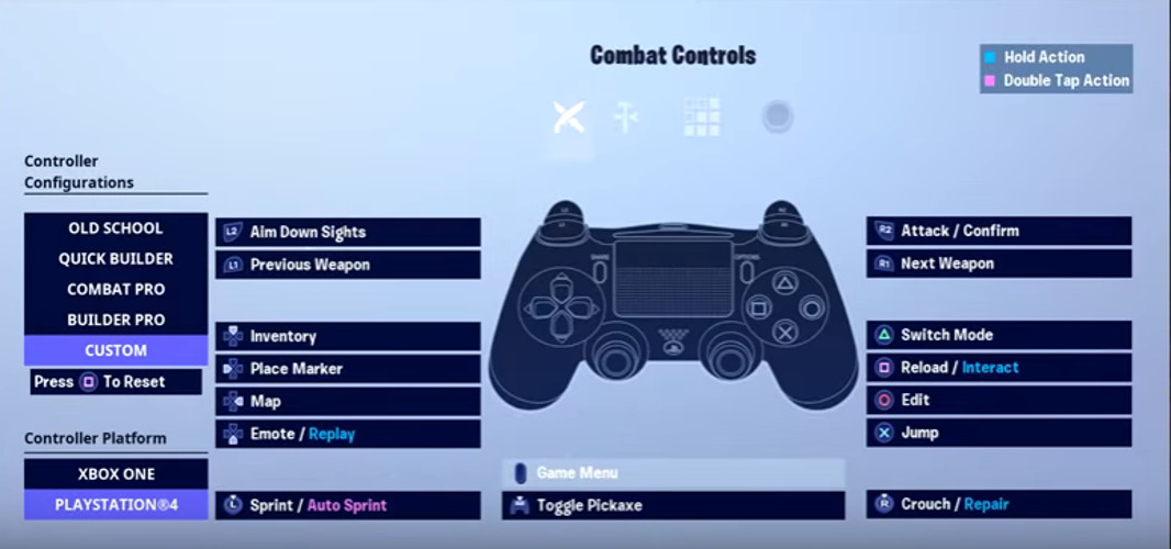 Assault's Combat Controls