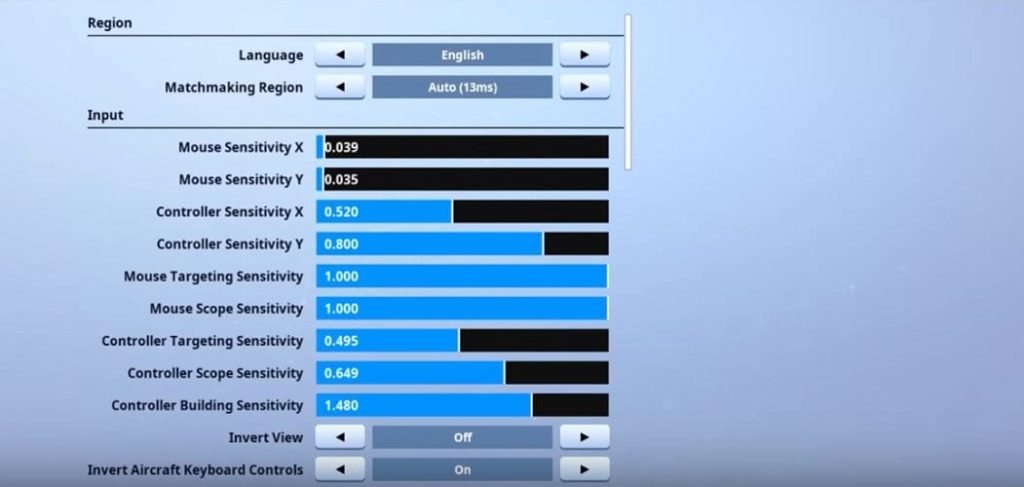 Commandment Fortnite Mouse Settings