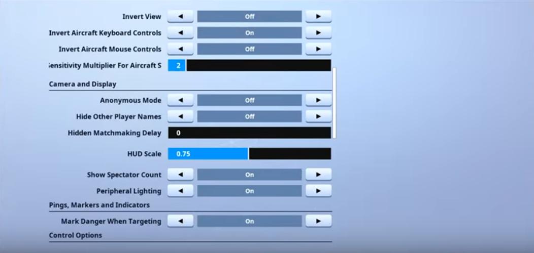 RazorX Fortnite Video settings