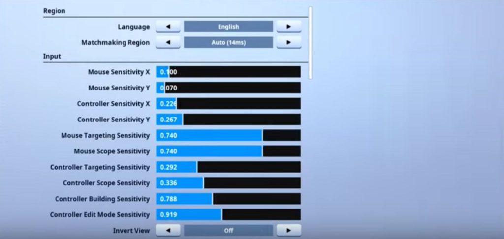 Replays Fortnite Mouse Settings