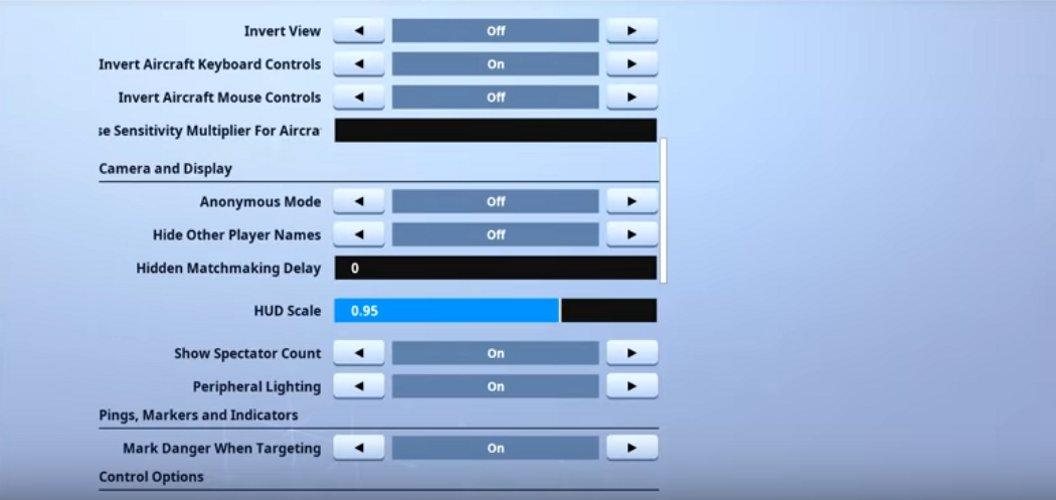 Reverse2k Game Settings