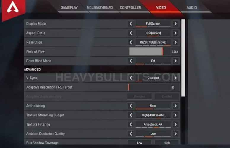 RustyMachine Apex Legends Video settings