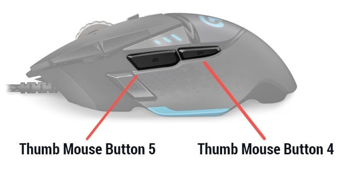 SpaceLyon mouse buttons