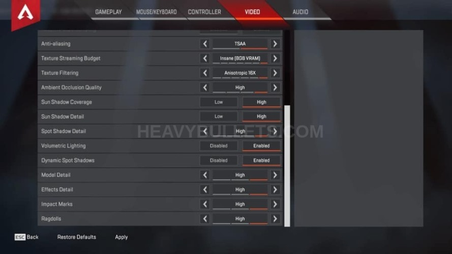 TimTheTatman Apex Legends Video settings