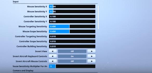 Vinny1x Fortnite Mouse Settings