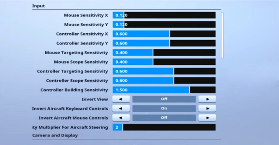 ZexRow Fortnite Mouse Settings