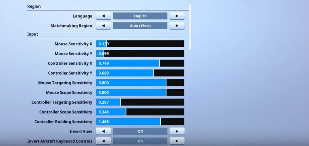 Thwifo Fortnite Mouse Settings