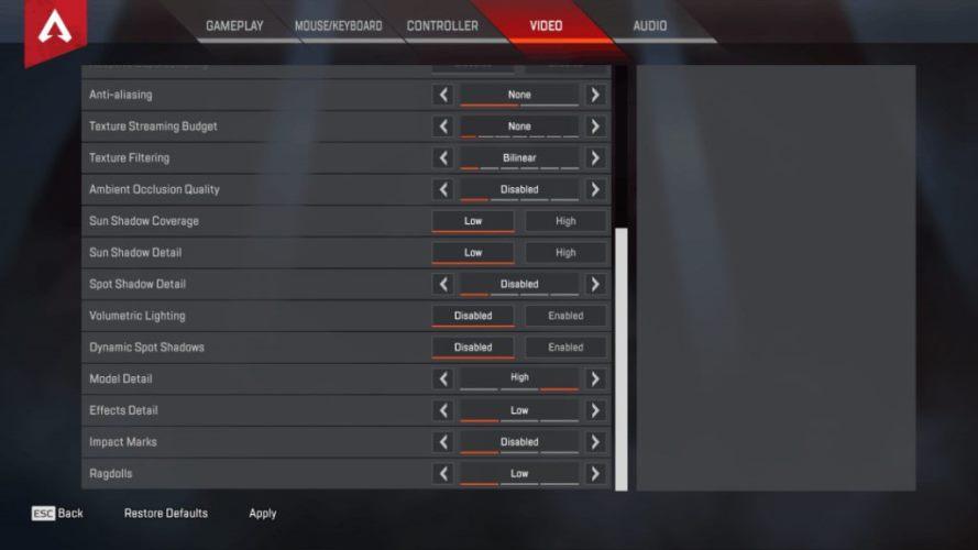 ImperialHal Apex Legends Video settings