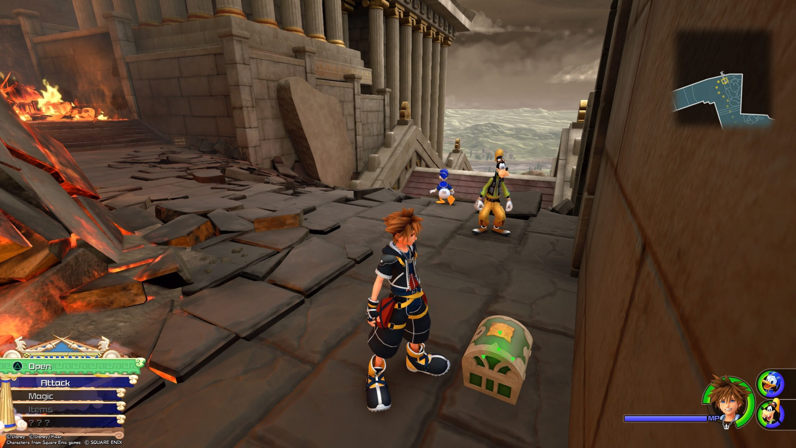 Thebes Treasure Chest Kingdom hearts 3
