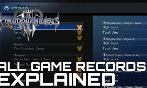 kingdom hearts 3 all game records